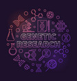 genetic research circular colorful outline vector image vector image
