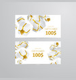 gift 3d background festive box gift card vector image vector image