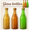 Glass bottles without label Detailed icon vector image vector image