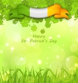 Glowing Nature Background with Clovers vector image vector image
