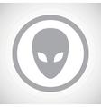 Grey alien sign icon vector image vector image