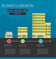 growth of business buildings of company small vector image vector image