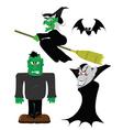 halloween figures vector image vector image
