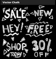 hand drawn doodle sale lettering on chalkboard vector image