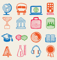 Hand drawn education icons vector image vector image