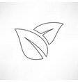 icon leaf vector image vector image