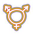 icon transgender symbol combining gender vector image