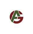 initial letter ag or ga logo design template