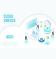 inside work process cloud service big data vector image vector image