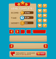 Interface buttons set for games or apps3 vector image