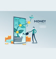 investment mobile website page vector image vector image