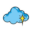 isolated cloud design vector image