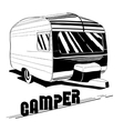 isolated Hand Drawn doodle Camper vector image vector image