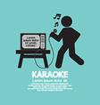 Karaoke Singer Black Symbol vector image