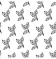 leaves monochrome seamless pattern foliage vector image