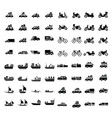 logistics and transport icons 64 item vector image vector image