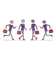 male teacher walking and running vector image vector image
