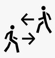man walk icon vector image vector image