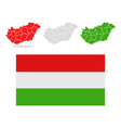 map hungary vector image