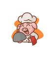 mascot chef pig vector image vector image