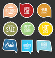 modern sale stickers and tags collection 2 vector image vector image
