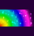 neon background with rainbow stars and circles vector image