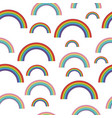 pastel rainbows - oldschool seamless pattern vector image