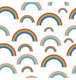 pastel rainbows - oldschool seamless pattern vector image vector image