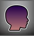 people head sign violet gradient icon vector image vector image