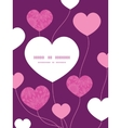 pink abstract flowers texture heart symbol frame vector image