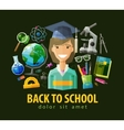 school education icons set collection of vector image vector image