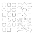 set of handmade frames ribbons and arrows vector image