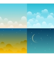 Set of sky vector image vector image