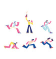 set people running sport run competition vector image