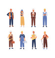 set smiling people industry or construction vector image