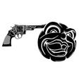 suicide headshot emoticon vector image vector image