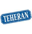Teheran blue square grunge retro style sign vector image vector image