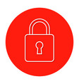 the sign of the padlock vector image vector image