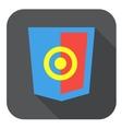 web development shield sign html5 vector image vector image