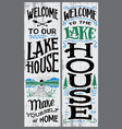 welcome to our lake house sign vector image vector image