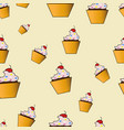cute cakes pattern vector image