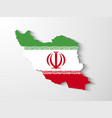 Iran map with shadow effect presentation vector image