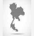 pixel map of thailand vector image