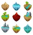 Isometric game islands vector image