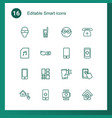 16 smart icons vector image vector image