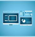 adaptive web graphic design development concept vector image