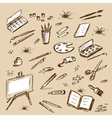 art tools doodles set vector image vector image