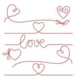 Bakers twine romantic set vector image vector image