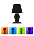black table lamp icon isolated on white background vector image vector image