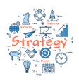 blue round strategy concept vector image vector image